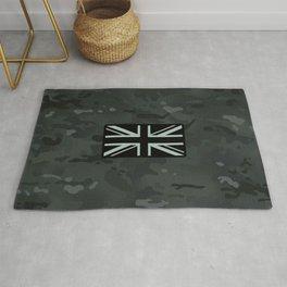British Flag: Black Camouflage Rug
