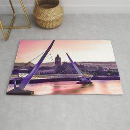 Derry / Londonderry Peace Bridge. (Painting.) Rug
