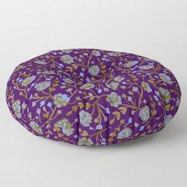Watercolor Peonies - Amethyst Floor Pillow