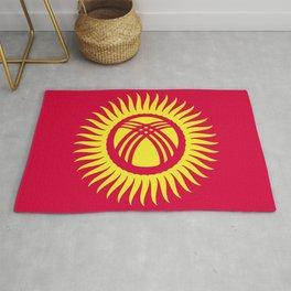 Kyrgyzstan flag emblem Rug