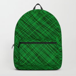 Fluttering ornament of their green threads and dark intersecting fibers. Backpack