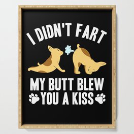 Funny French Bulldog Fart Gift Frenchie Mom Yoga Serving Tray