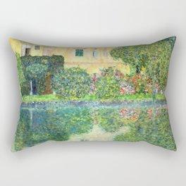 Gustav Klimt Kammer Castle on Lake Attersee IV Rectangular Pillow
