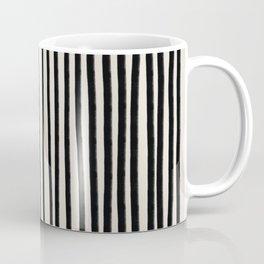 Black Vertical Lines Coffee Mug