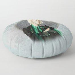 A Study In Green Floor Pillow