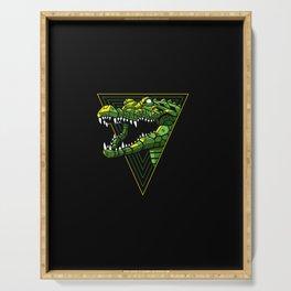 Cyber Crocodile Punk Serving Tray