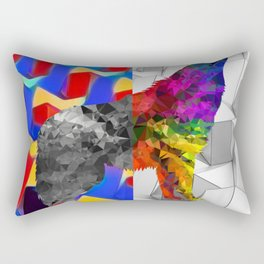 Arctic Howling Wolf Rectangular Pillow