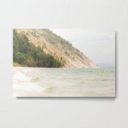 Great Lake Meets Dunes Metal Print