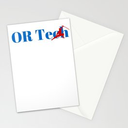 OR Tech Ninja in Action Stationery Cards