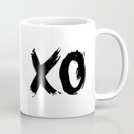 XOXO Hugs and Kisses black and white gift for her girlfriend bedroom art and home room wall decor Coffee Mug