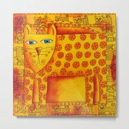 Patterned Leopard Metal Print