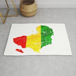 Africa Map Reggae Rasta design Green Yellow Red Africa pride Rug