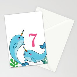 Narwhal  7 Stationery Cards