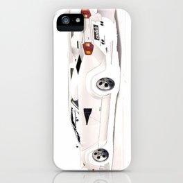 White Lamborghini Countach 1985 iPhone Case
