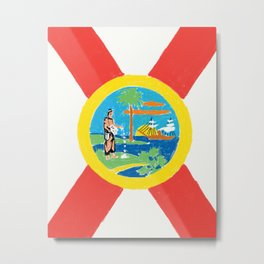 Florida State Flag Metal Print