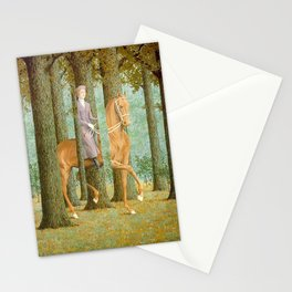 Rene Magritte / The blank check Stationery Cards