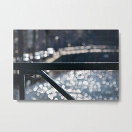 Amsterdam Canal Detail with Bokeh Metal Print