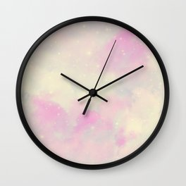 Pastel Cloulds Sky Seamless Nebula 132 Wall Clock