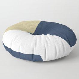 Gold meets Navy Blue & White Geometric #1 #minimal #decor #art #society6 Floor Pillow