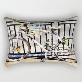 White Bike Rectangular Pillow