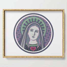 Virgin Mary Serving Tray