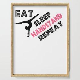 Fun Gymnastics Gift Eat Sleep Handstand Repeat Gymnast Gift Serving Tray