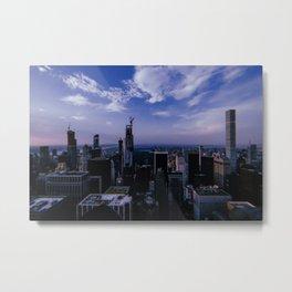 New York City // Retro 37 Metal Print