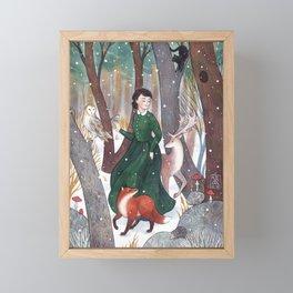 Dancing in the snow Framed Mini Art Print