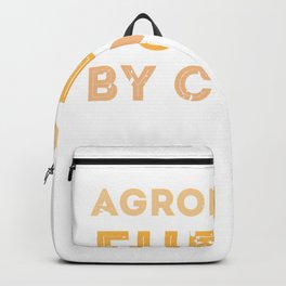 Agronomist Fueled By Coffee Funny Agronomist Farmer Grower T-Shirt Backpack