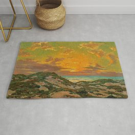 Sunset amid the Dunes by Granville Redmond Rug