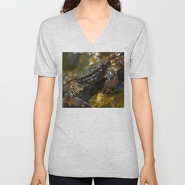 Crab Smiling Unisex V-Neck