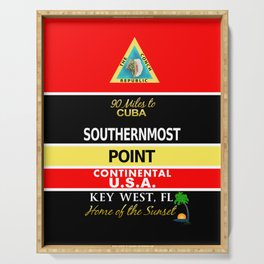 Key West Southernmost Point Buoy Serving Tray