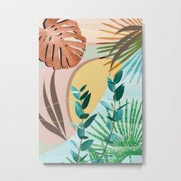 Eucalyptus Tropical Summer Oasis #2 #tropical #wall #art #society6 Metal Print