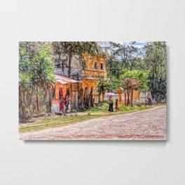 Village scene in Guatemala Metal Print