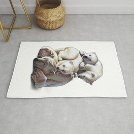 Polar Bear Family Rug