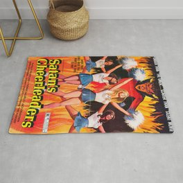 Satan's Cheeleaders 1977 Vintage Movie Poster Rug