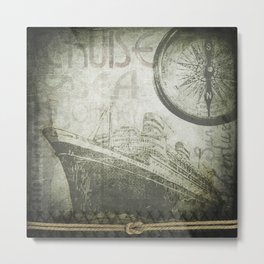 Steam Ship Ahoy Metal Print