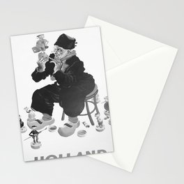 retro monochrome Holland retro poster Stationery Cards