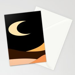Desert moon Stationery Cards