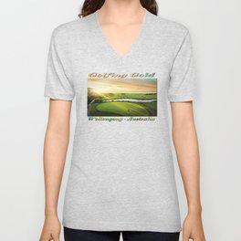 Golfing at the 'Gong Unisex V-Neck