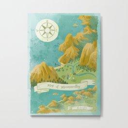 Moominvalley Map Interpretation (1/3) Metal Print