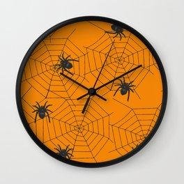 Halloween Spider Illustration Wall Clock