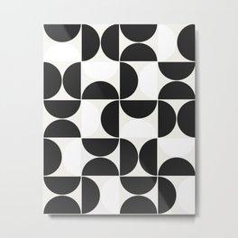 Modern Geometric Seamless Pattern Mid Century XIV Metal Print