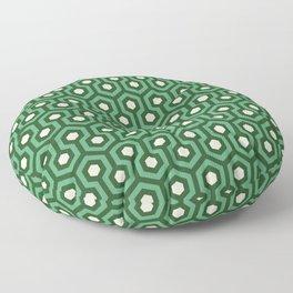 Emerald Goth Hexagons Pattern Floor Pillow