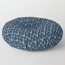 Indigo Pattern Knit Texture Hand Drawn Floor Pillow