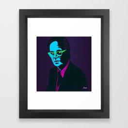 """""""B.F. Skinner"""" Portrait Framed Art Print"""