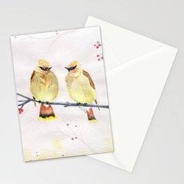 Waxwing Birds  Stationery Cards