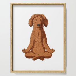Yoga Golden Doodle Serving Tray