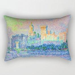 """Paul Signac """"Palais des Papes Avignon"""" Rectangular Pillow"""