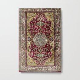 Farahan Arak West Persian Silk Rug Print Metal Print